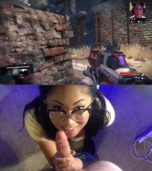 Gamer girl gets a facial