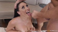 Rachel Starr takes a load then keeps on fucking