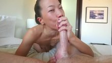 Some sloppy Asian deepthroat