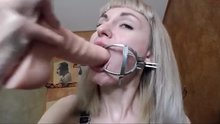Stretching her throat like a fleshlight - kelly