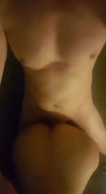 Click on gfycat in the header to listen to how much I'm enjoying getting fucked by his massive cock?