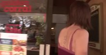 Cute brunette flashing at a Golden Corral in Tampa