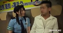 Inside a parked bus, if you can resist Ai Uehara's spectacular techniques for 10 minutes, you can have raw creampie sex with her. Gif for each contestant in the comments.
