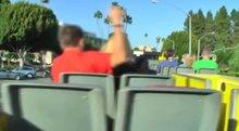 Open top bus ride