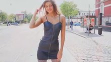 Russian Cutie Maria Ryabushkina Flashing on the Street in Prague