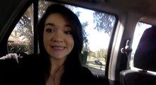 Jilling off in the backseat