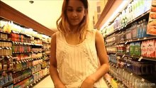 Uma Jolie flashing in store
