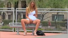Touching Herself On A Tennis Court.