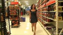 flashing tits and ass in public store