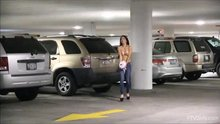 Megan Salinas in parking garage