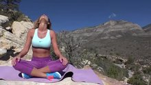 Yoga milf gets fucked in the mountains