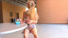 Hannah Hays caught with out panties