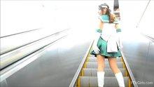 Princess Sailor Jupiter cosplay at a convention