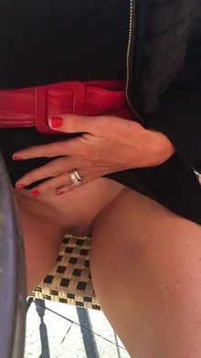 Pussy play at a restaurant