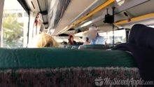 Handjob and blowjob on bus