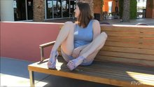 Talkative on a public bench