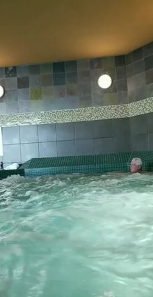In a public jacuzzi with strangers f/36